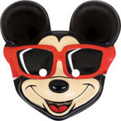 Plastic Mickey Mouse Mask 9in