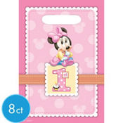 1st Birthday Minnie Mouse Favor Bags 8ct