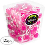 Bright Pink Lollipops 159pc