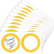 Yellow Favor Sticker Labels 20ct