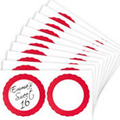 Red Favor Sticker Labels 20ct
