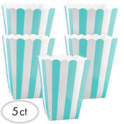 Robin Egg Blue Popcorn Favor Boxes 5ct
