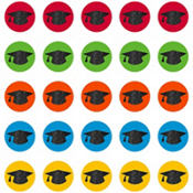 Glitter Graduation Cap Cutouts 50ct