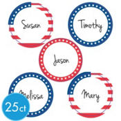Patriotic Drink Labels 25ct<span class=messagesale><br><b>8¢ per piece!</b></br></span>