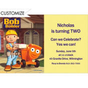 Bob the Builder Custom Invitation