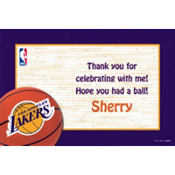 Los Angeles Lakers Custom Thank You Note