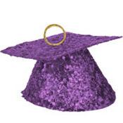 Purple Glitter Graduation Balloon Weight 6oz
