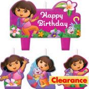 Dora the Explorer Birthday Candles 4ct