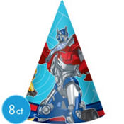 Transformers Party Hats 8ct