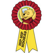 Winnie the Pooh Award Ribbon