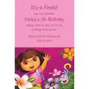 Dora Flower Fun Custom Invitation
