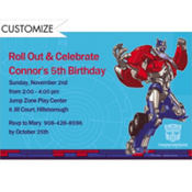 Transformers Prime Custom Invitation