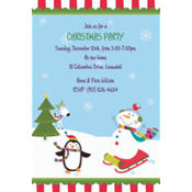 Joyful Snowman Custom Invitation