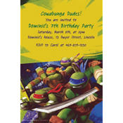 Teenage Mutant Ninja Turtles Custom Invitation