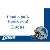 Detroit Lions Custom Thank You Note