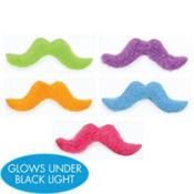 Neon Moustaches 5ct