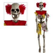Hanging Evil Clown Skeleton