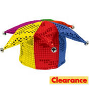 Rainbow Sequined Jester Hat