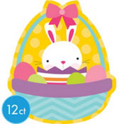 Easter Bunny Basket Cutout 13in 12ct