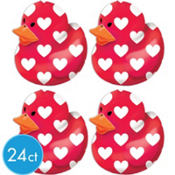 Valentines Day Rubber Ducks 24ct<span class=messagesale><br><b>58¢ per piece!</b></br></span>