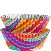 Rainbow Stripes ColorCups Baking Cups 36ct