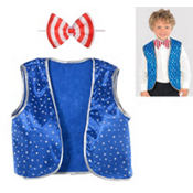 Child Patriotic Vest & Bow Tie Set
