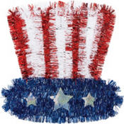 Uncle Sam Hat Tinsel Decoration
