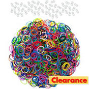 Assorted Rubber Loom Bands 1200ct