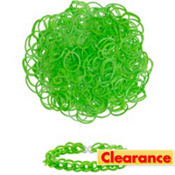 Green Rubber Loom Bands 300ct