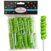 Kiwi Green Twisty Pops 20pc