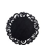 Black Swirl Round Paper Doilies 10ct