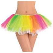 Black Light Neon Rainbow Tutu
