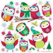 Holiday Owl Decals 20ct