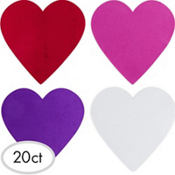 Large Foam Hearts 20ct