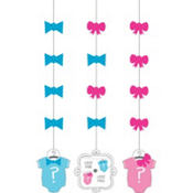 Little Man, Little Miss Gender Reveal String Decorations 3ct