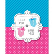 Little Man, Little Miss Gender Reveal Invitations 8ct