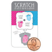 Little Miss Gender Reveal Scratch-Off Party Game