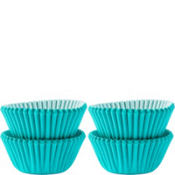 Mini Robin's Egg Blue Baking Cups 100ct