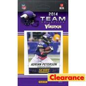 2014 Minnesota Vikings Team Cards 13ct