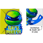Jumbo Teenage Mutant Ninja Turtles Invitations Deluxe 8ct