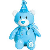 Blue 1st Birthday Autograph Bear Plush