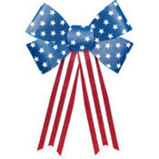 Glitter Patriotic Bow Decoration