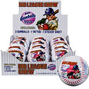 Big League Chew Plastic Baseball 5.3oz 12ct
