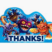 Skylanders Thank You Notes 8ct