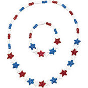 Patriotic Necklace and Bracelet Set 2pc