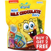 SpongeBob Mini Milk Chocolate Bars 18pc