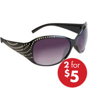 Rhinestone & Black Sunglasses