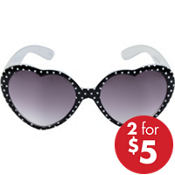 Polka Dot Heart Sunglasses