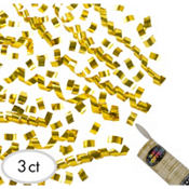 Gold Confetti Party Poppers 3ct