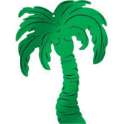 Palm Tree Foil Cutout 15in